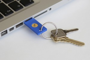 Security-Key-by-Yubico-in-USB-Port-on-Keychain